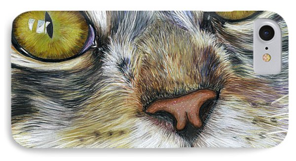 Stunning Cat Painting IPhone Case by Michelle Wrighton