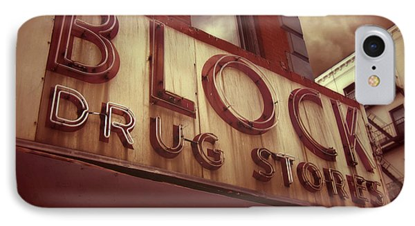 Block Drug Store - New York IPhone Case by Jim Zahniser