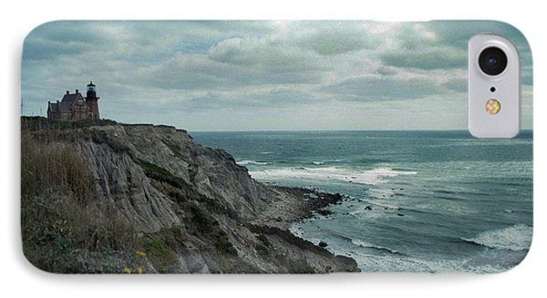 Block Island South East Lighthouse IPhone Case by Skip Willits