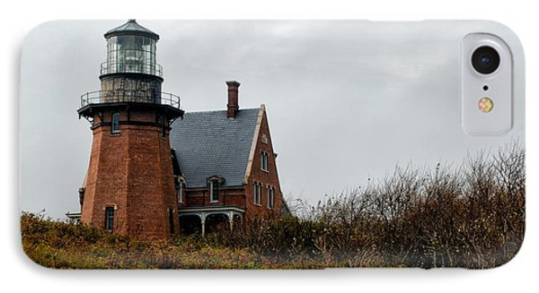 Block Island Southeast Lighthouse Phone Case by Nancy De Flon