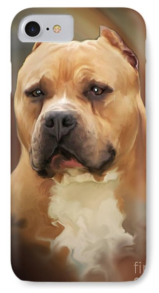 Blond Pit Bull By Spano Phone Case by Michael Spano