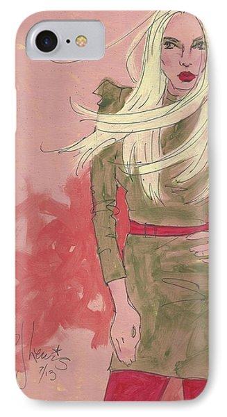 Blonde Attitude IPhone Case by P J Lewis