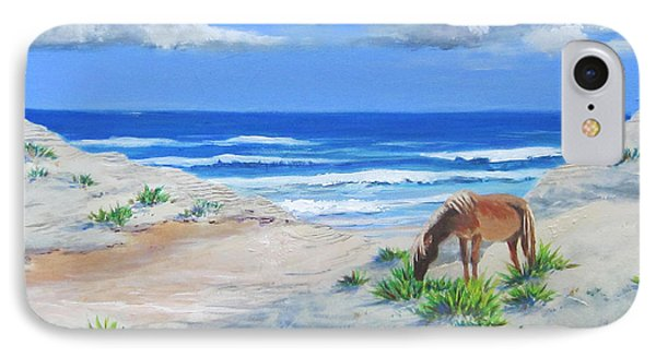 Blonde On The Beach IPhone Case by Anne Marie Brown