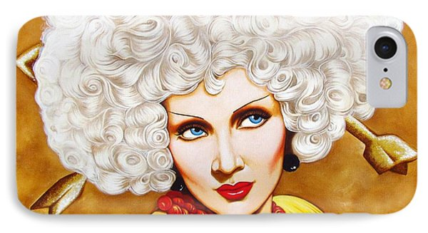IPhone Case featuring the painting Blonde Venus by Joseph Sonday