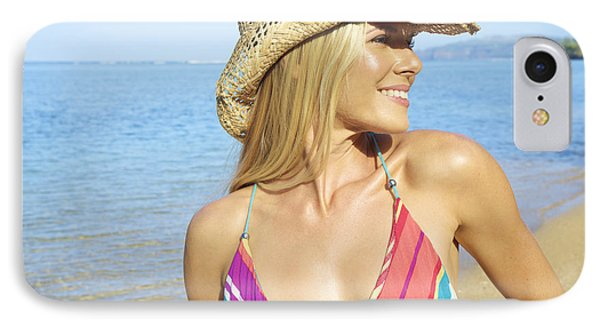 Blonde Woman In Hawaii Phone Case by Kicka Witte