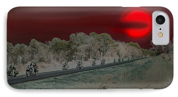 Blood Moon And Speed Phone Case by Nina Fosdick
