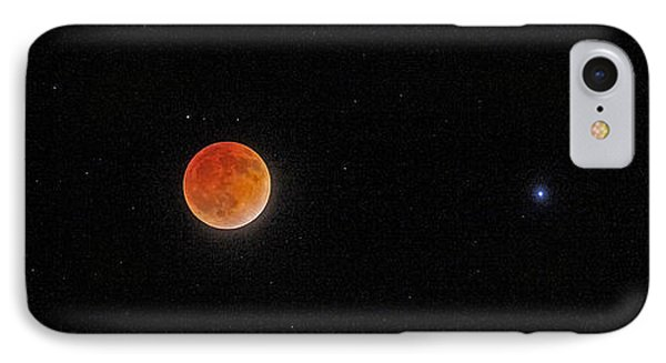 IPhone Case featuring the photograph Blood Moon And Stars by Martin Konopacki