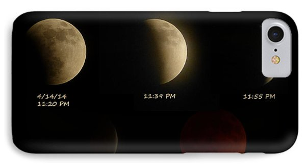 Blood Moon Eclipse Of 4/15/2014 IPhone Case