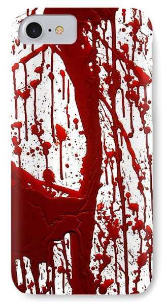 Blood Splatter II Phone Case by Holly Anderson