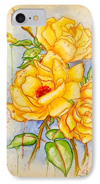 IPhone Case featuring the painting Blood Sweat And Tears Vignette by Darren Robinson