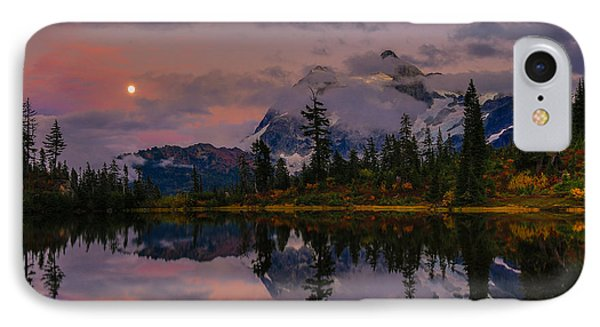 Bloodmoon Rise Over Picture Lake IPhone Case by Eti Reid