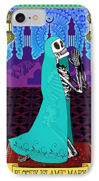 Bloody Islamic Mary IPhone Case by Tammy Wetzel