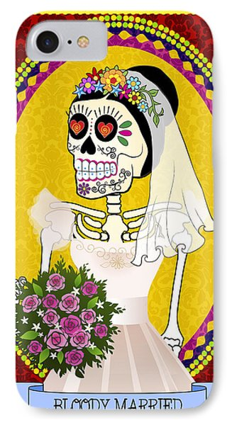 Bloody Married IPhone Case by Tammy Wetzel
