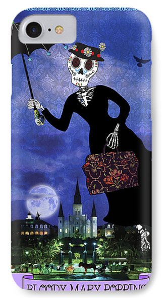 Bloody Mary Poppins IPhone Case by Tammy Wetzel