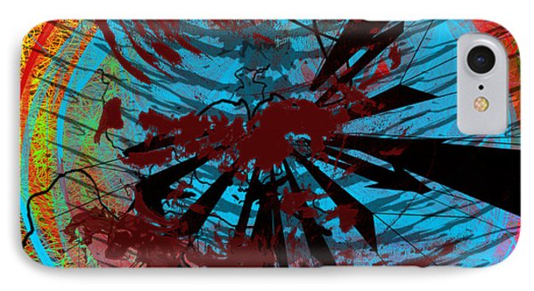 IPhone Case featuring the digital art Bloody Mess by Clayton Bruster