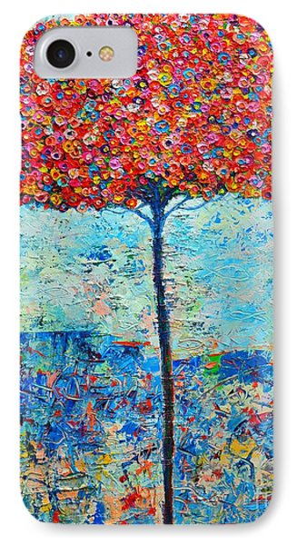 Blooming Beyond Known Skies - The Tree Of Life - Abstract Contemporary Original Oil Painting IPhone Case