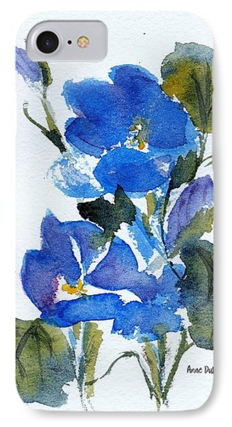 IPhone Case featuring the painting Blooming Blue by Anne Duke