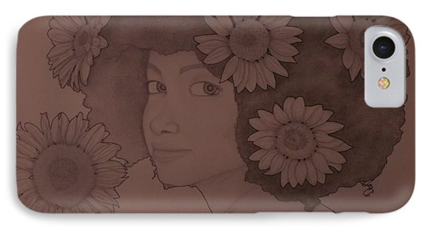 Blooming Girl Sunflower In Shade Of Purple IPhone Case