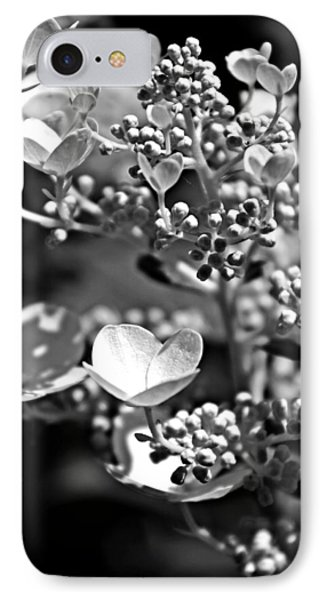 Blooms And Berries In Black And White IPhone Case