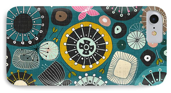 Blooms Teal IPhone Case