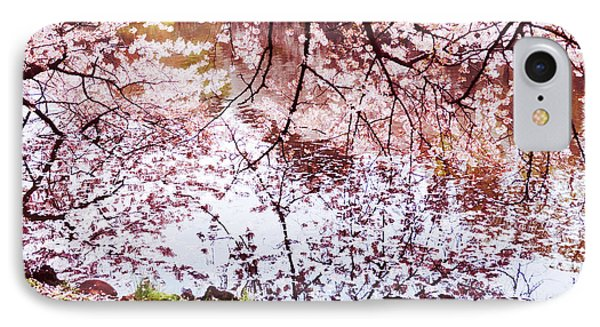 Blossoming Cherry Tree Branches Touching Water IPhone Case by Oleksiy Maksymenko