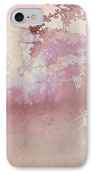Blossoming Red Bud In Pink  Phone Case by Ann Powell