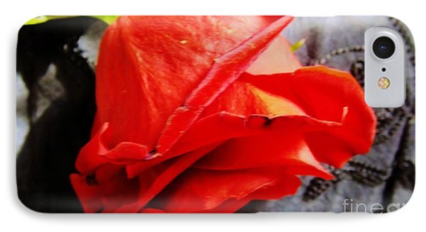 IPhone Case featuring the photograph Blossoming Red by Robyn King