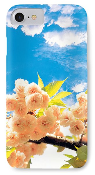 Blossoms Against Sky IPhone Case by Panoramic Images