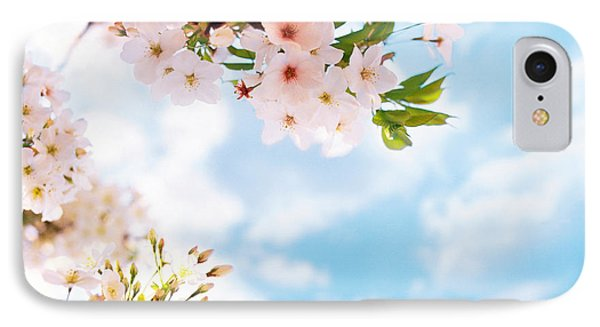 Blossoms Against Sky, Selective Focus IPhone Case by Panoramic Images