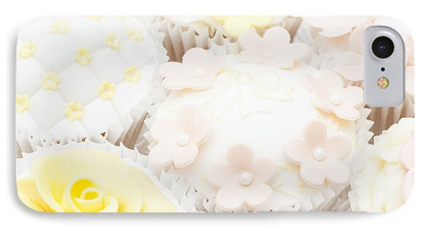 Blossoms And Bows Cupcake Phone Case by Anne Gilbert