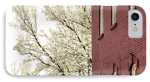 IPhone Case featuring the photograph Blossoms And Brick by Courtney Webster