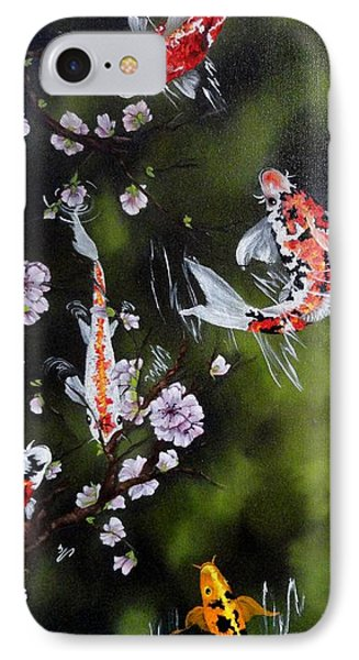 Blossoms And Koi Phone Case by Carol Avants