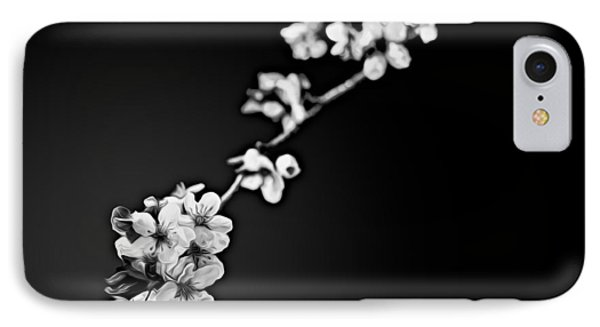 IPhone Case featuring the photograph Blossoms In Black And White by Joshua Minso