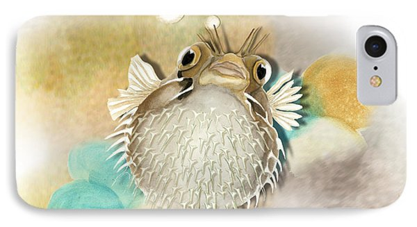 Blowfish IPhone Case by Anne Beverley-Stamps