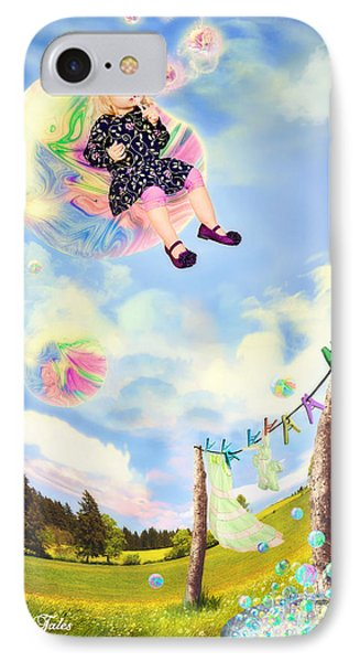 Blowing Bubbles Phone Case by Fairy Tales Imagery Inc