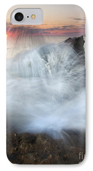 Blowing Rocks Sunrise Explosion Phone Case by Mike  Dawson