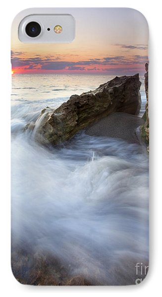 Blowing Rocks Sunrise Phone Case by Mike  Dawson