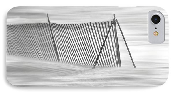 Blowing Snow At Snow Fence  Phone Case by Dan Friend