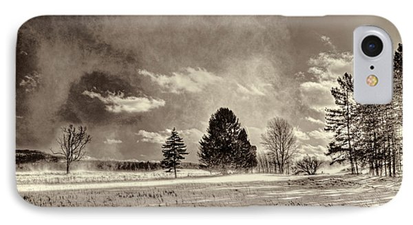 Blowing Snow Canaan Valley Phone Case by Dan Friend