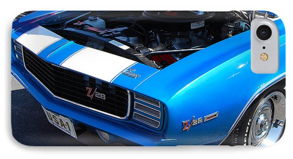 blue '69 Camaro Z28 IPhone Case
