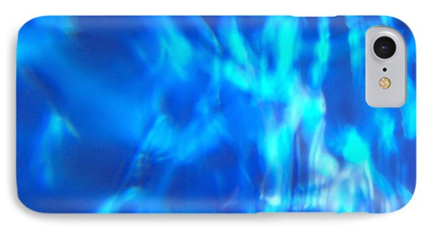 Blue Abstract 2 IPhone Case by Tony Cordoza