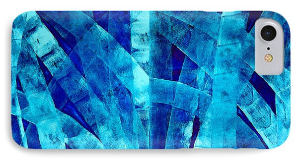 Blue Abstract Art - Paths - By Sharon Cummings IPhone Case