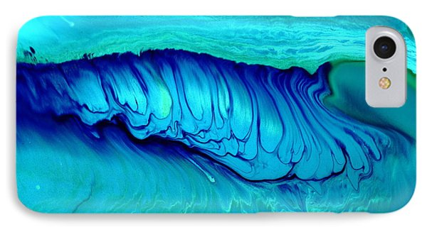 Blue Abstract Art Underwater Secrets Phone Case by Serg Wiaderny