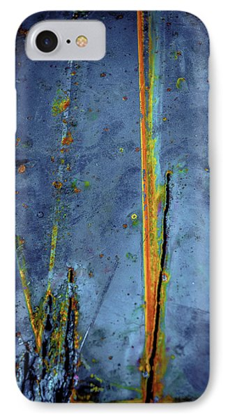 Blue Abstract Seven IPhone Case by Craig Perry-Ollila