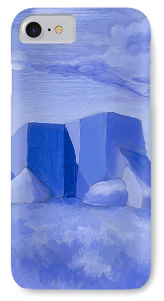 Blue Adobe Phone Case by Jerry McElroy