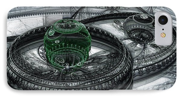 Dark Alien Landscape IPhone Case by Martin Capek