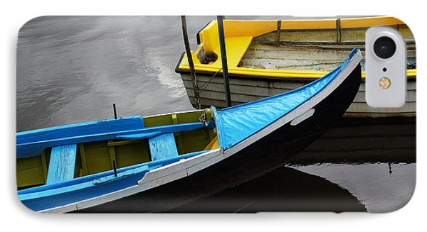 Blue And Yellow Boats IPhone Case