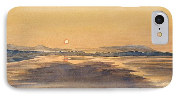 Blue Anchor Sunset IPhone Case by Martin Howard