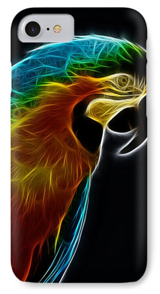 Blue And Gold Macaw Frac IPhone Case by Bill Barber