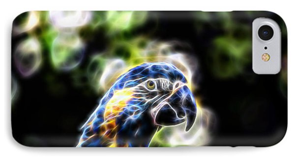 Blue And Gold Macaw V4 IPhone Case by Douglas Barnard